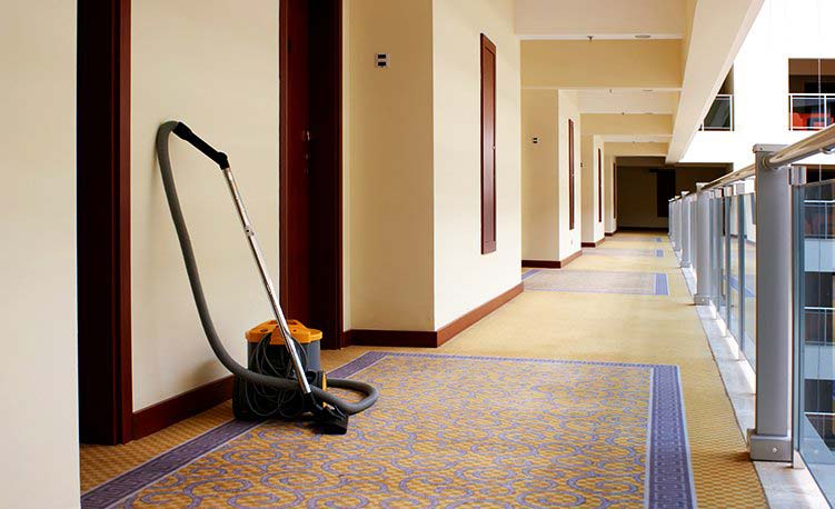 Janitorial Cleaning Services - Clean hotel hallway
